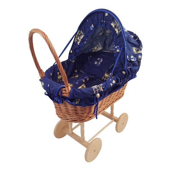 poppenwagen playwood blauw